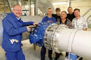 Auch im Stiepeler Wasserbehälter legte Axel Schäfer während seines Praktikums Hand an. Bildquelle: Molatta