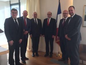 Gemeinsam mit meinen Kollegen der AG Europa der SPD-Bundestagsfraktion besuchen wir den französischen Botschafter Philippe Etienne.