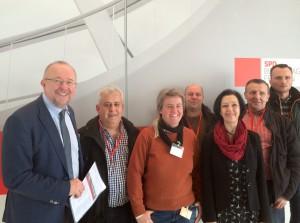 Axel Schäfer MdB gemeinsam mit Angelika Glöckner MdB bei der Betriebs- und Personalrätekonferenz