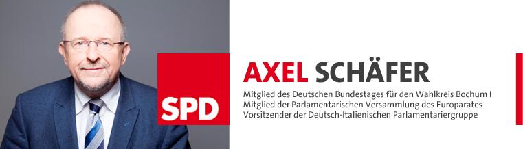 Axel Schäfer – SPD Abgeordneter im Deutschen Bundestag für Bochum